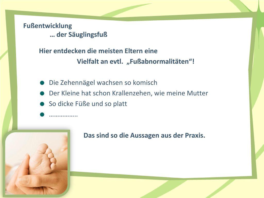 Fußentwicklung … der Säuglingsfuß