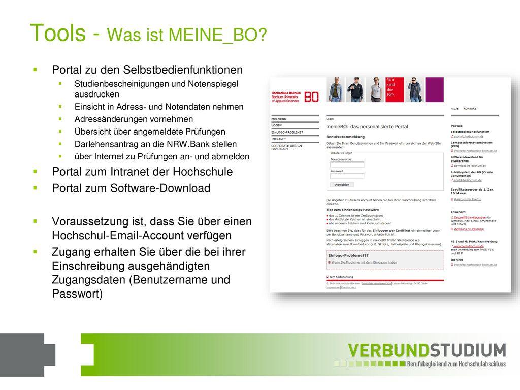 Tools - Was ist MEINE_BO