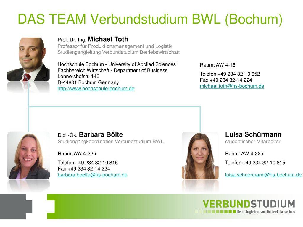 DAS TEAM Verbundstudium BWL (Bochum)