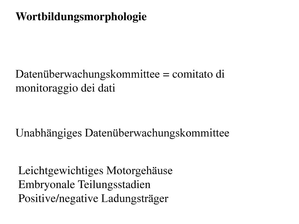 Wortbildungsmorphologie