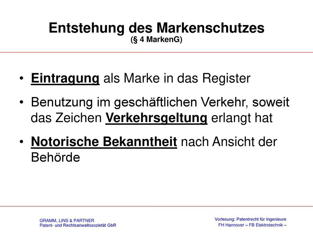 Relative Schutzhindernisse (§ 9 MarkenG)