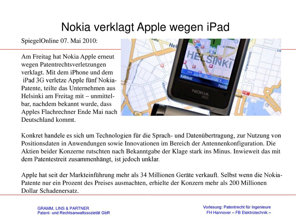 Nokia verklagt Apple wegen iPad