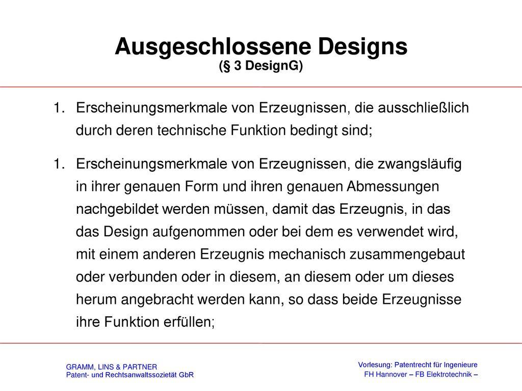 Definition eines Designs (§ 1 DesignG)