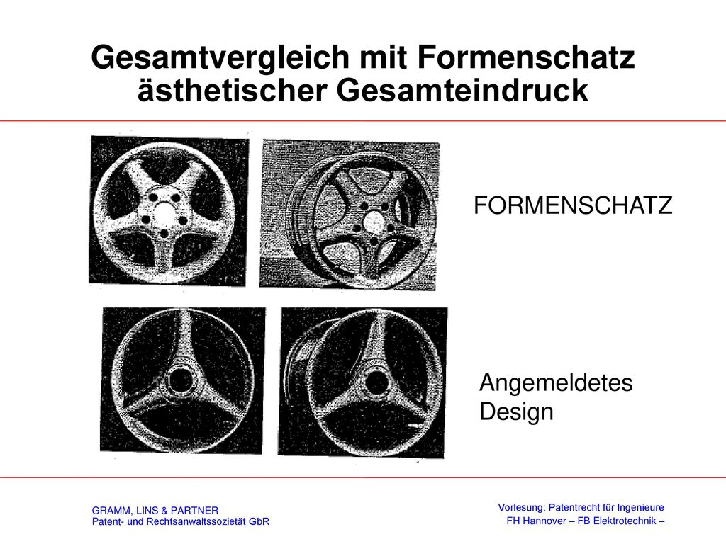 Eigenart – § 2(3) DesignG
