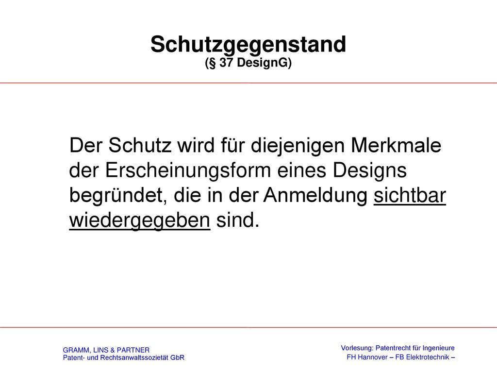 Formenschatz / Offenbarung (§ 5 DesignG)