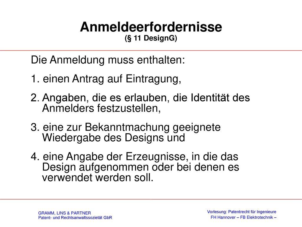 Schutzgegenstand (§ 37 DesignG)