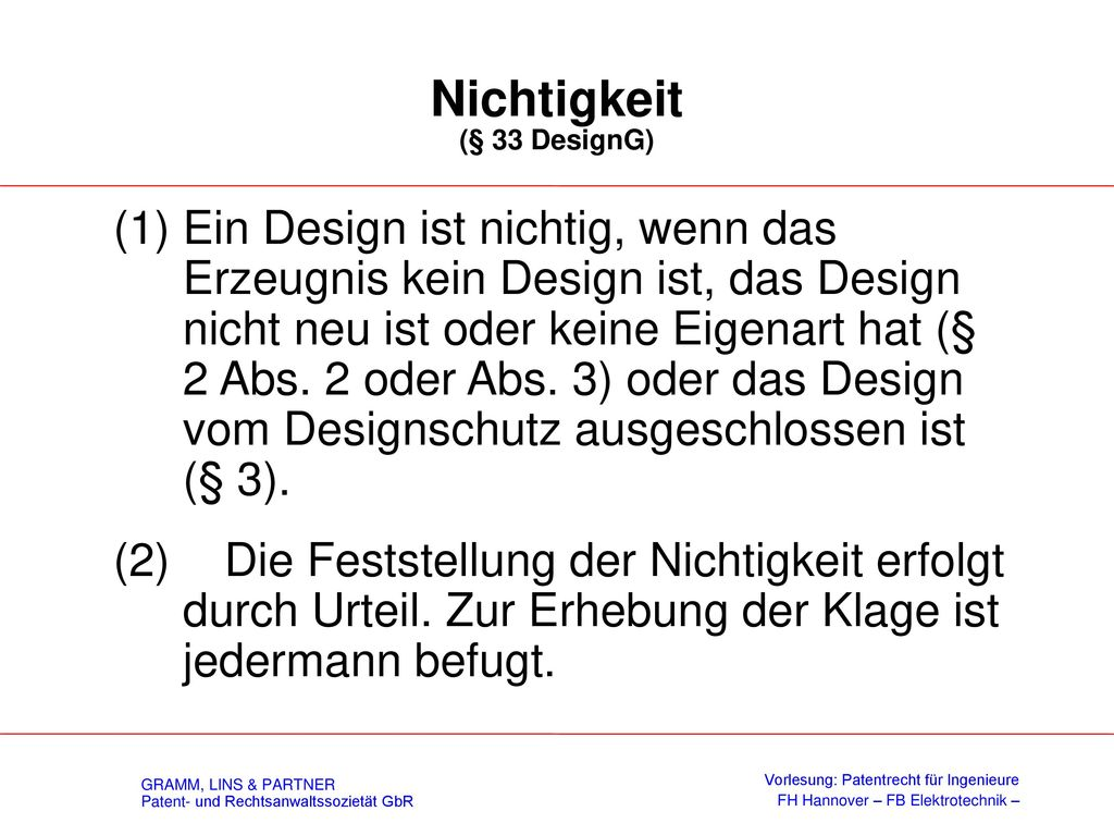 Schutzdauer (§ 27 DesignG)