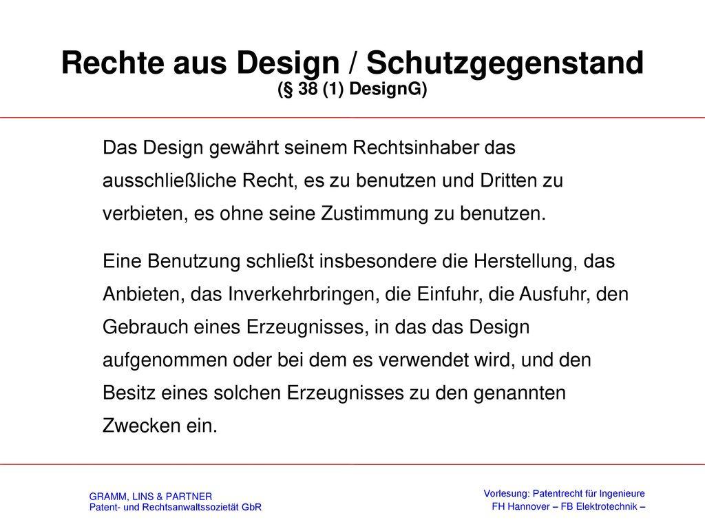 Nichtigkeit (§ 33 DesignG)