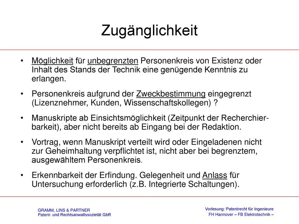 Stand der Technik (§ 3 PatG – Neuheit)