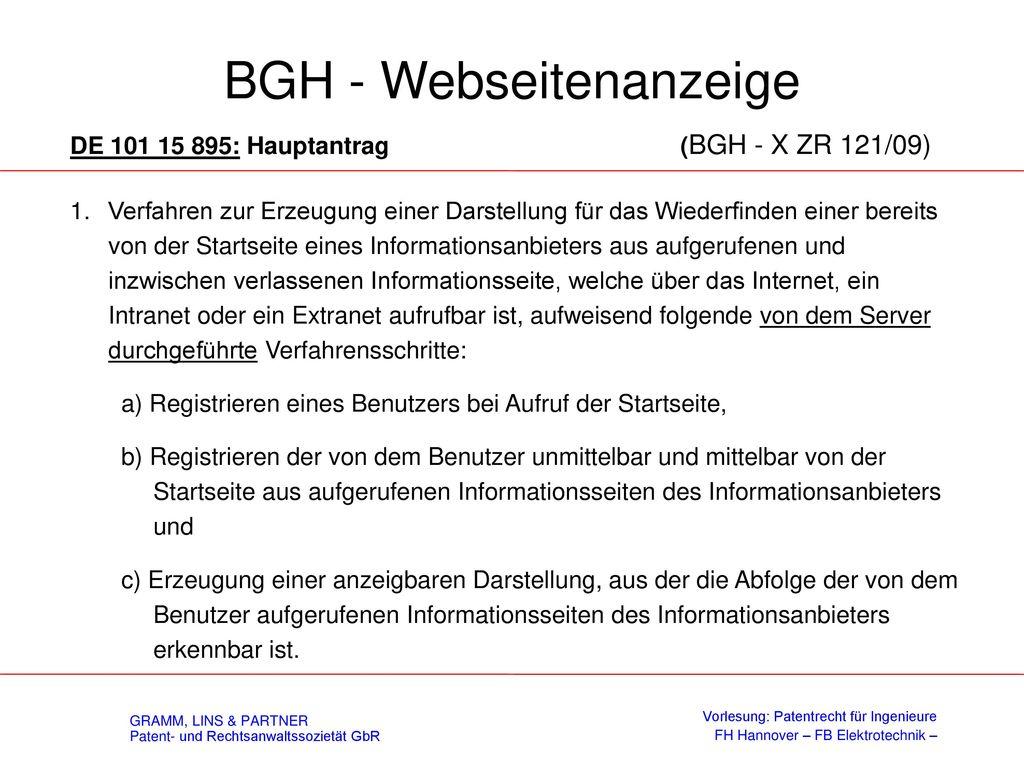 Rechtsprechung des BGH