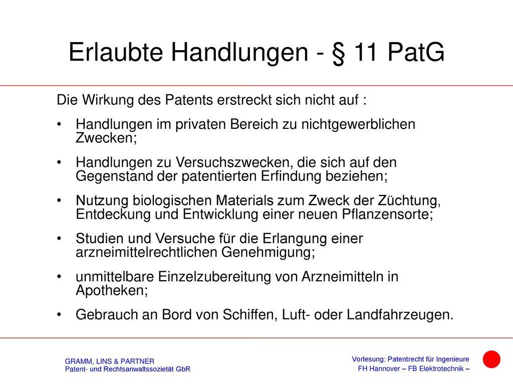 Mittelbare Benutzung - §10 PatG