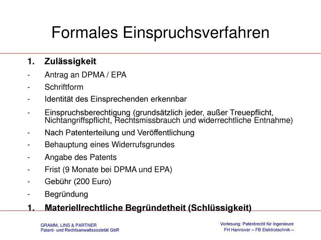 Vindikationsklage § 8 PatG - Erfinderrechtliche Vindikation
