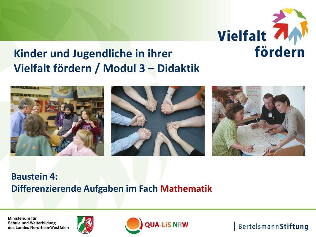 Kinder und Jugendliche in ihrer Vielfalt fördern / Modul 3 – Didaktik