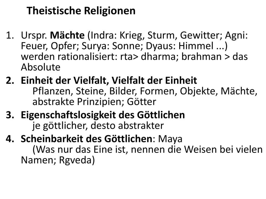 Theistische Religionen