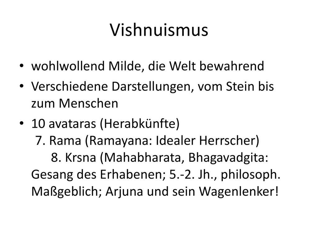 Vishnuismus wohlwollend Milde, die Welt bewahrend