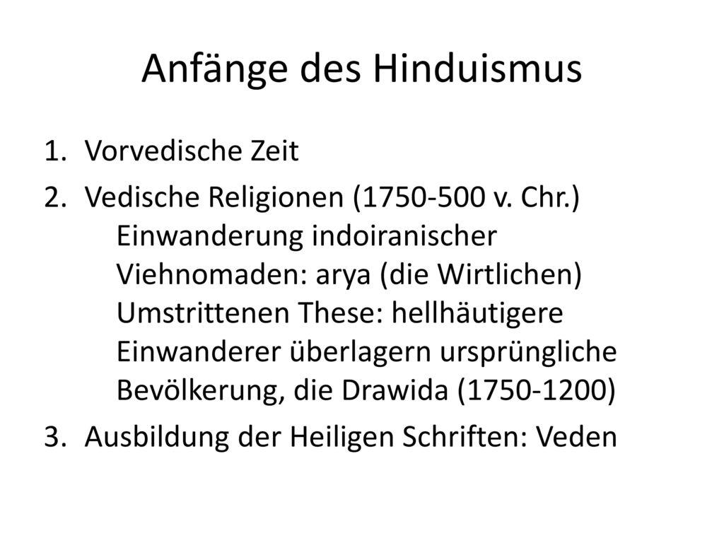 Anfänge des Hinduismus