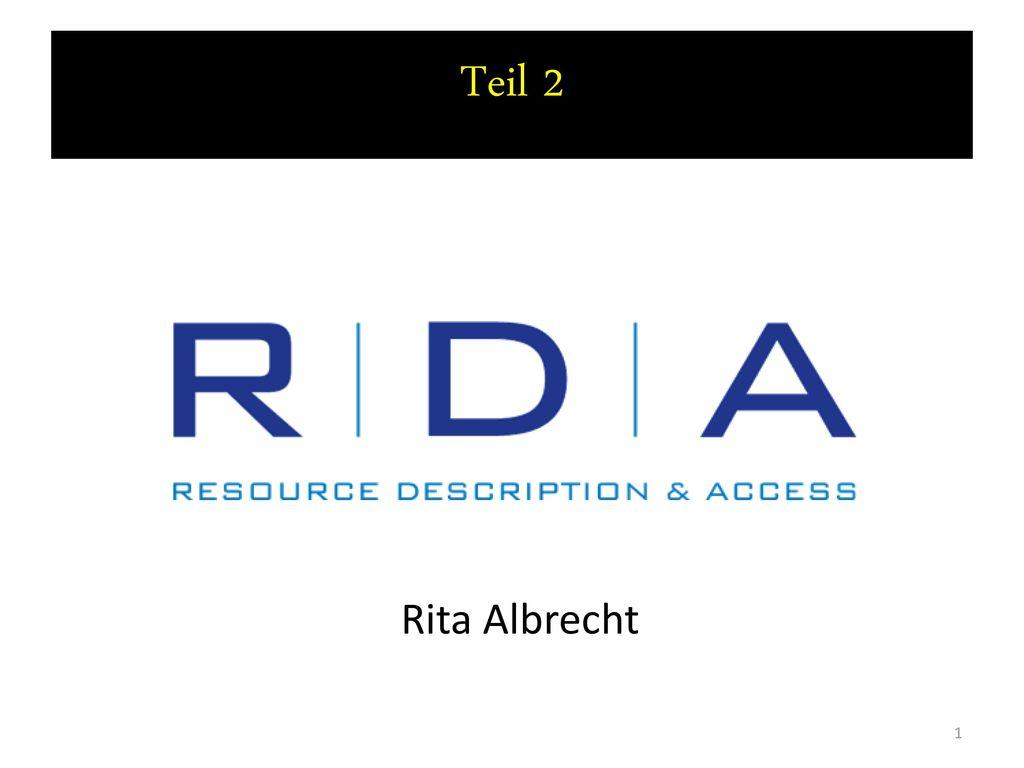 Teil 2 Rita Albrecht