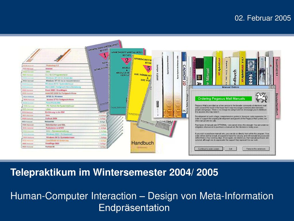 Telepraktikum im Wintersemester 2004/ 2005