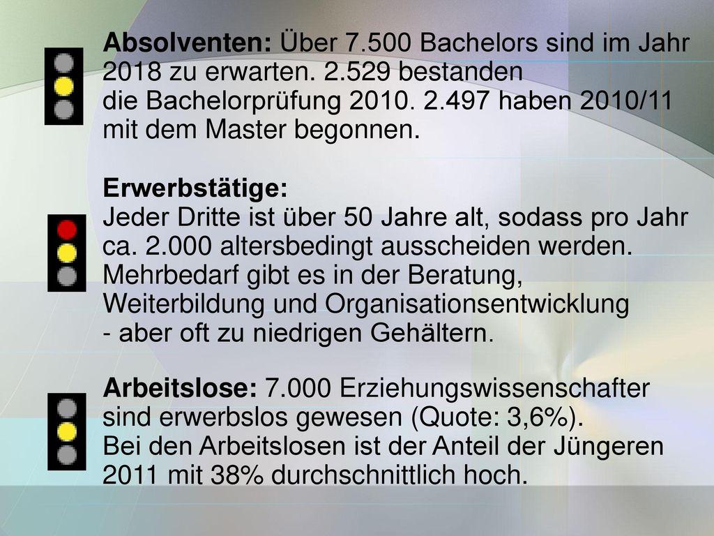 Absolventen: Über 7.500 Bachelors sind im Jahr