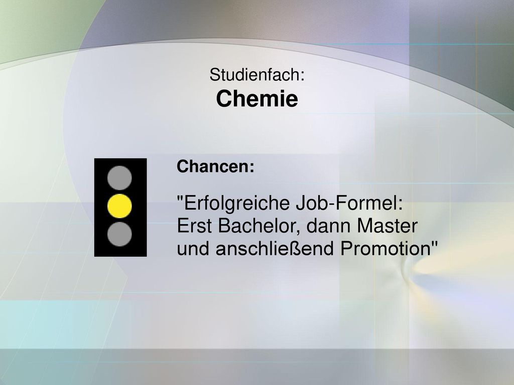 Chemie Erfolgreiche Job-Formel: Erst Bachelor, dann Master
