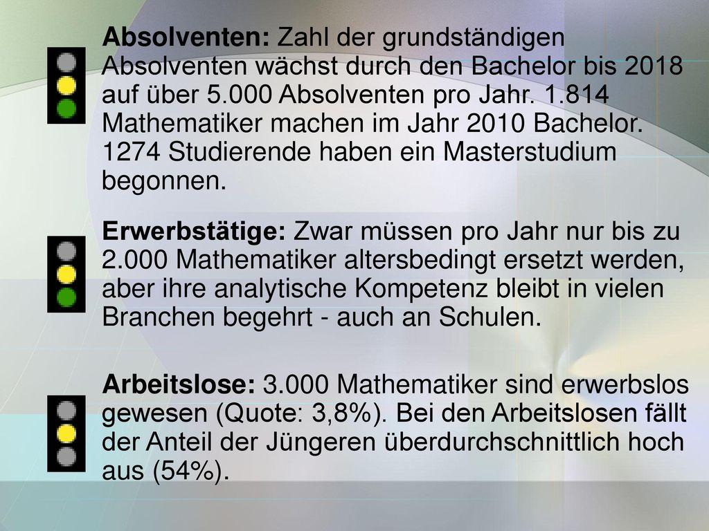 Absolventen: Zahl der grundständigen