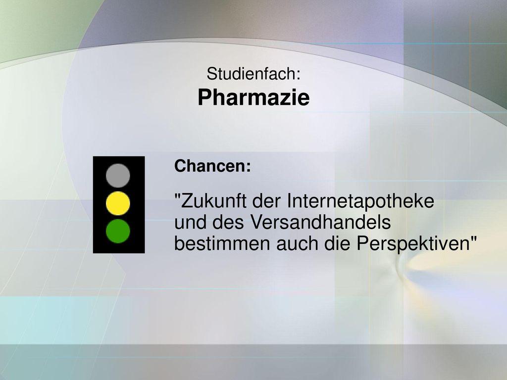 Pharmazie Zukunft der Internetapotheke und des Versandhandels