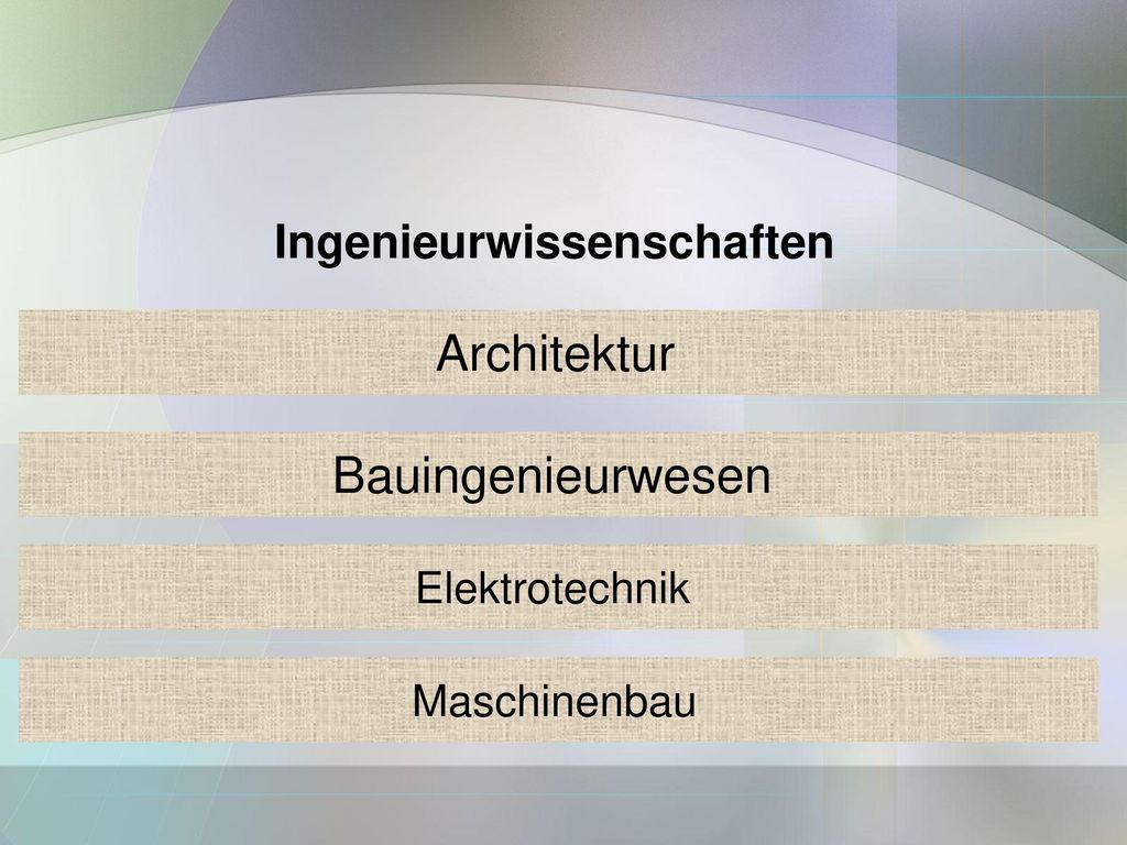 Ingenieurwissenschaften