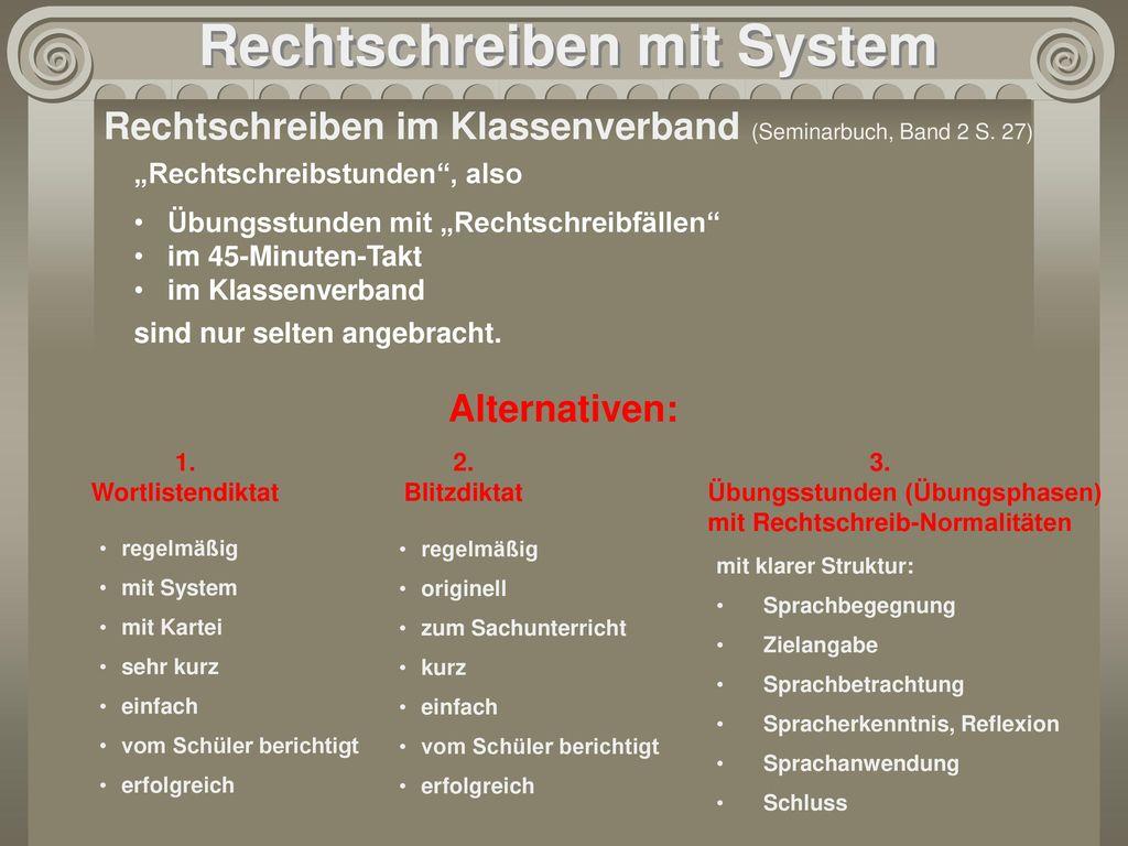 Rechtschreiben mit System