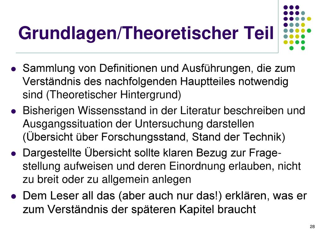 Grundlagen/Theoretischer Teil