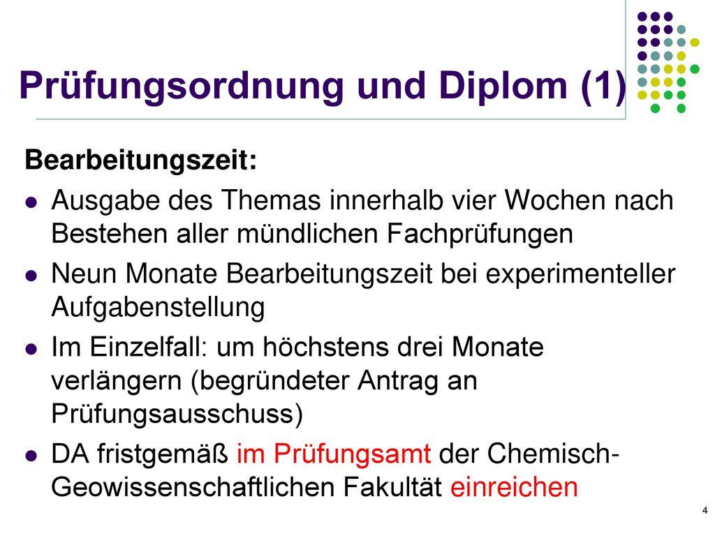Prüfungsordnung und Diplom (1)