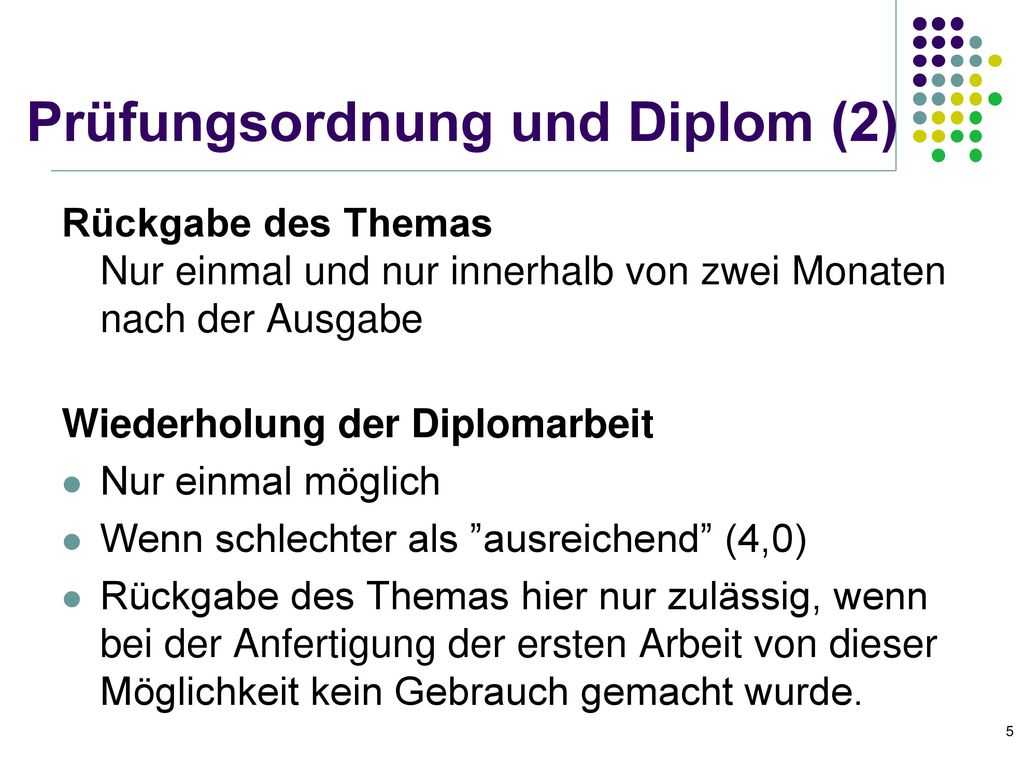 Prüfungsordnung und Diplom (2)