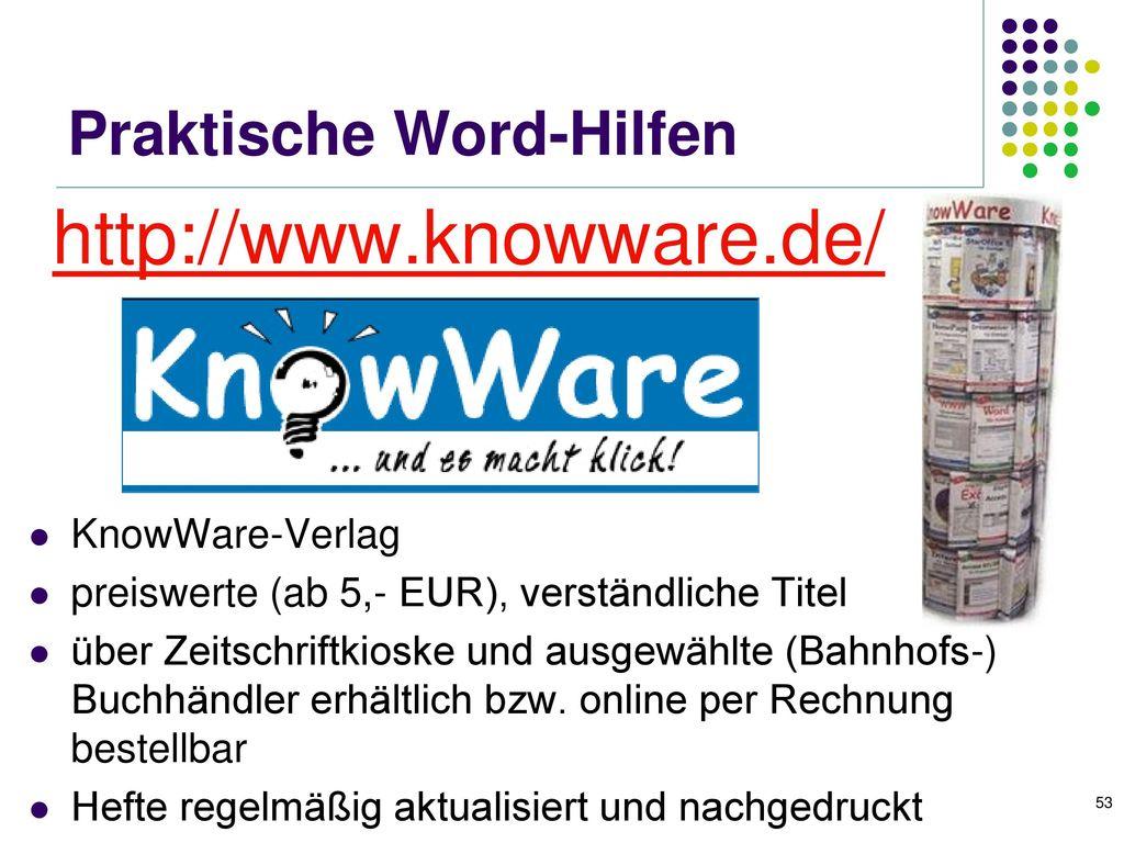 Word 2007 – Kurs im RZ der FSU (1)