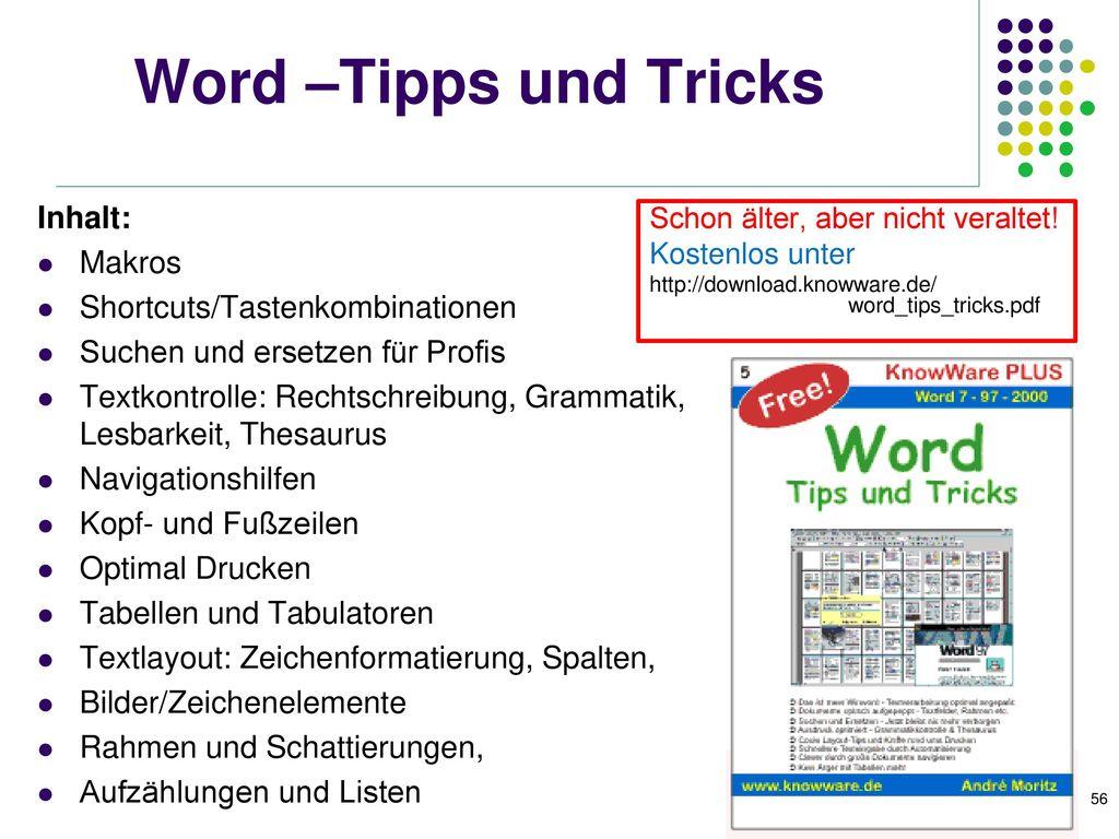 Praktische Word-Hilfen