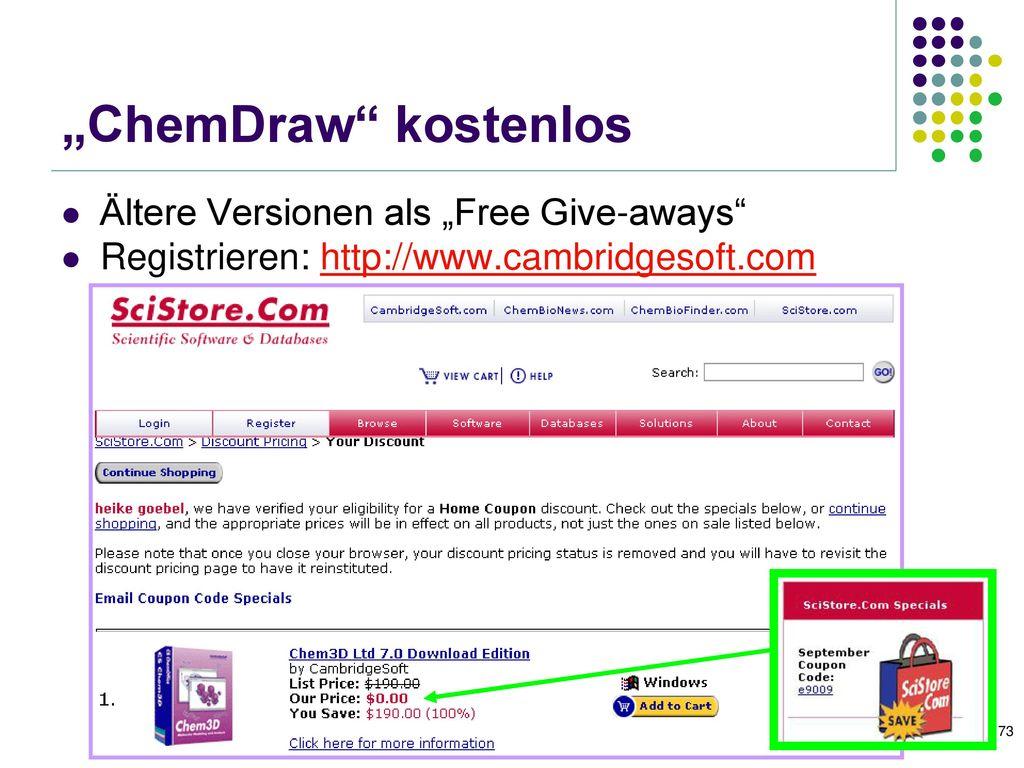 """Chemische Strukturen zeichnen mit """"Chemsketch (1)"""