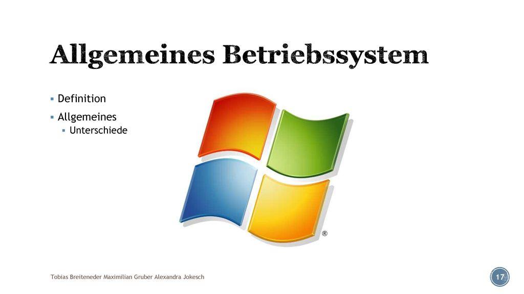 Allgemeines Betriebssystem