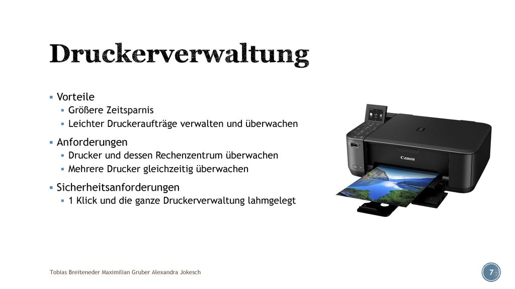 Druckerverwaltung Vorteile Anforderungen Sicherheitsanforderungen
