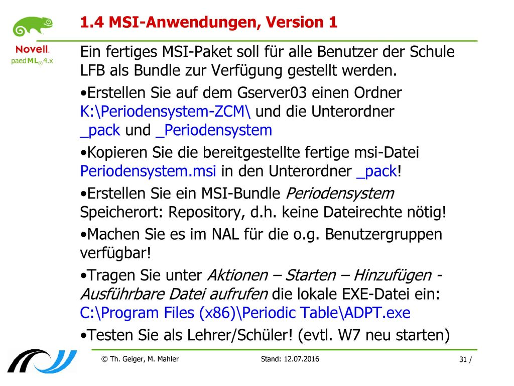 1.4 MSI-Anwendungen, Version 1