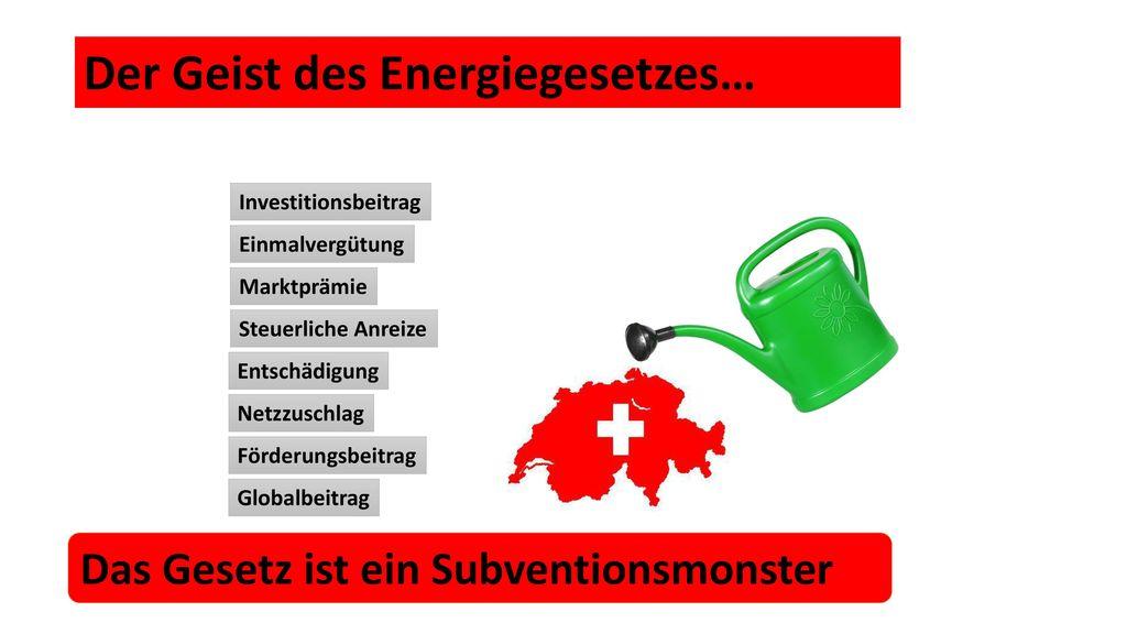 Der Geist des Energiegesetzes…