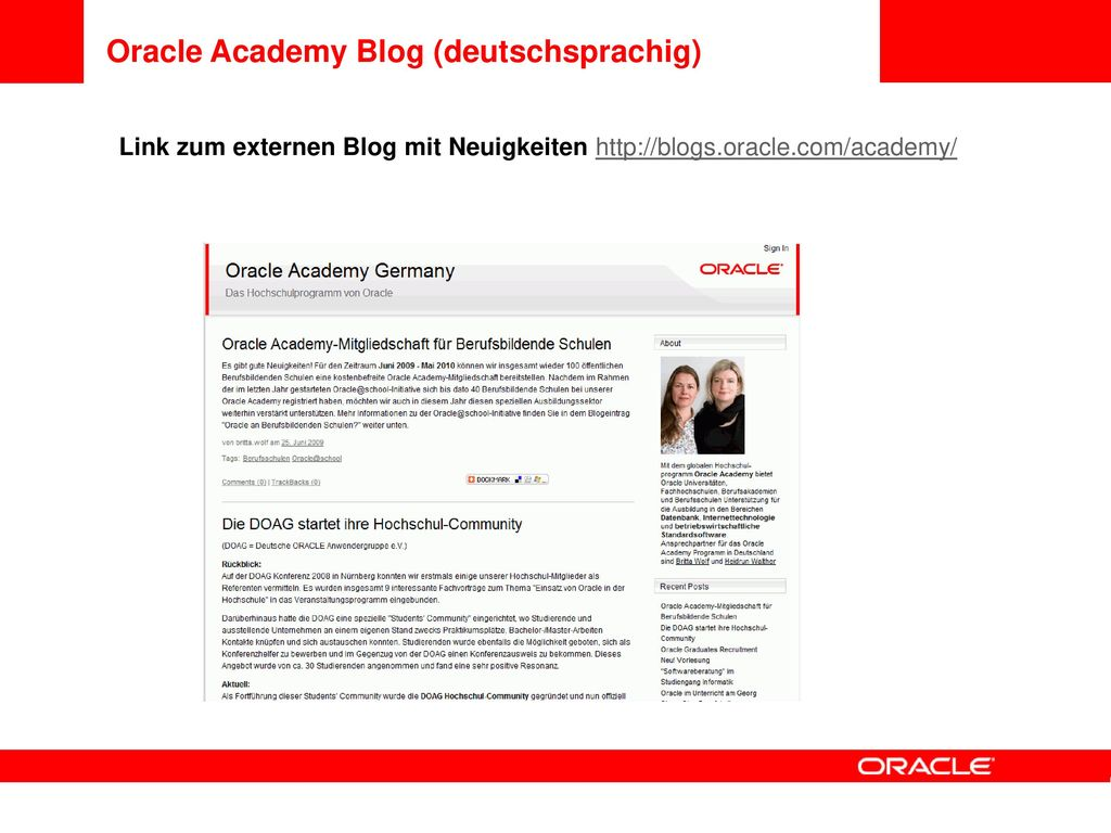 Oracle Academy Blog (deutschsprachig)
