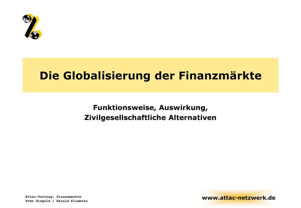Die Globalisierung der Finanzmärkte