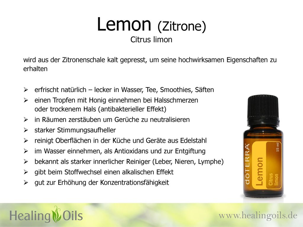 Lemon (Zitrone) Citrus limon