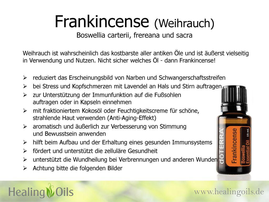 Frankincense (Weihrauch) Boswellia carterii, frereana und sacra