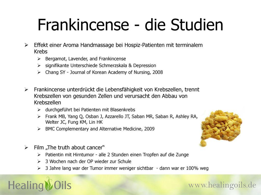 Frankincense - die Studien