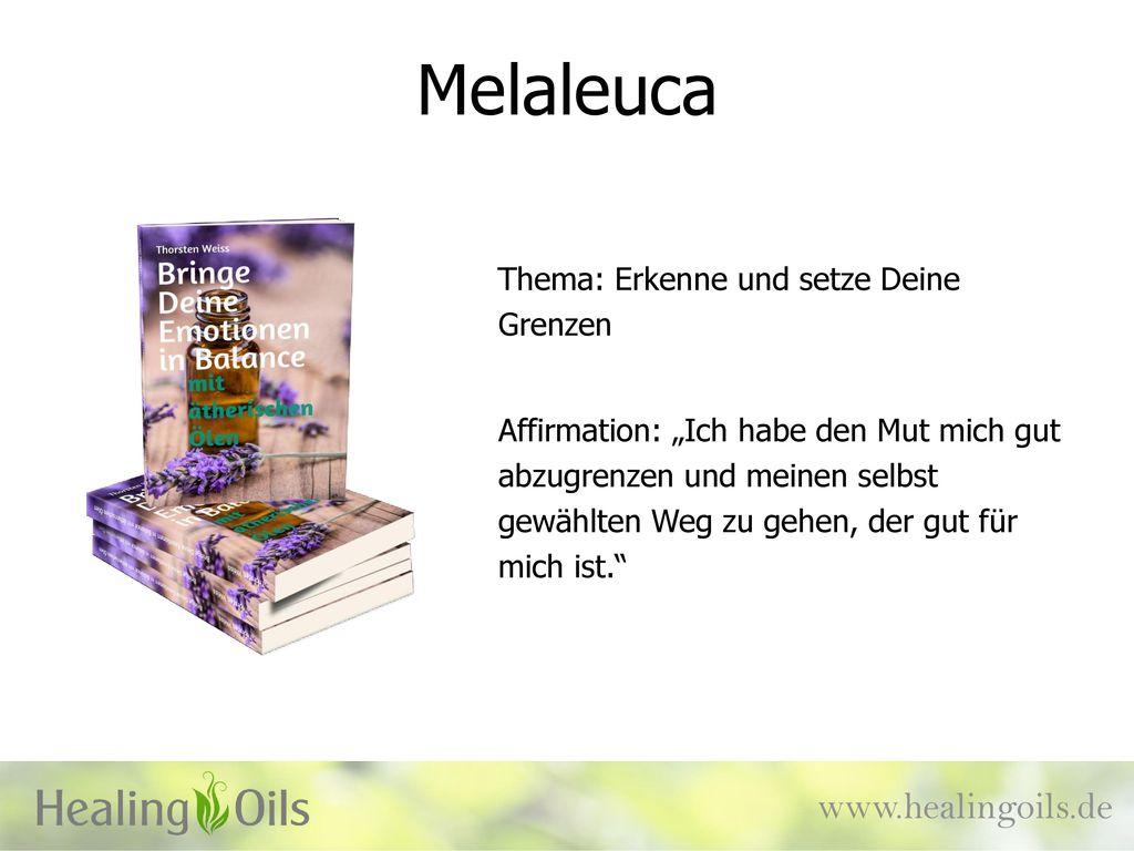 Melaleuca www.healingoils.de Thema: Erkenne und setze Deine Grenzen