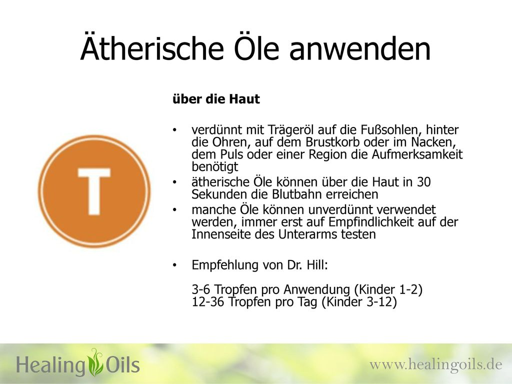 Ätherische Öle anwenden