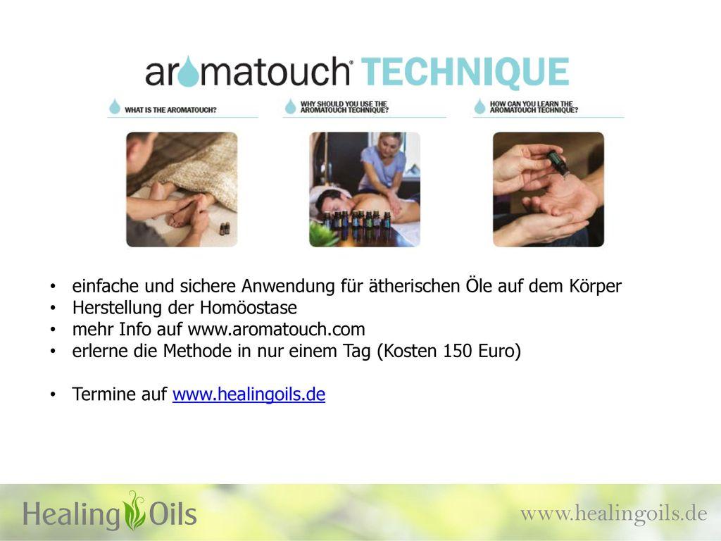 einfache und sichere Anwendung für ätherischen Öle auf dem Körper
