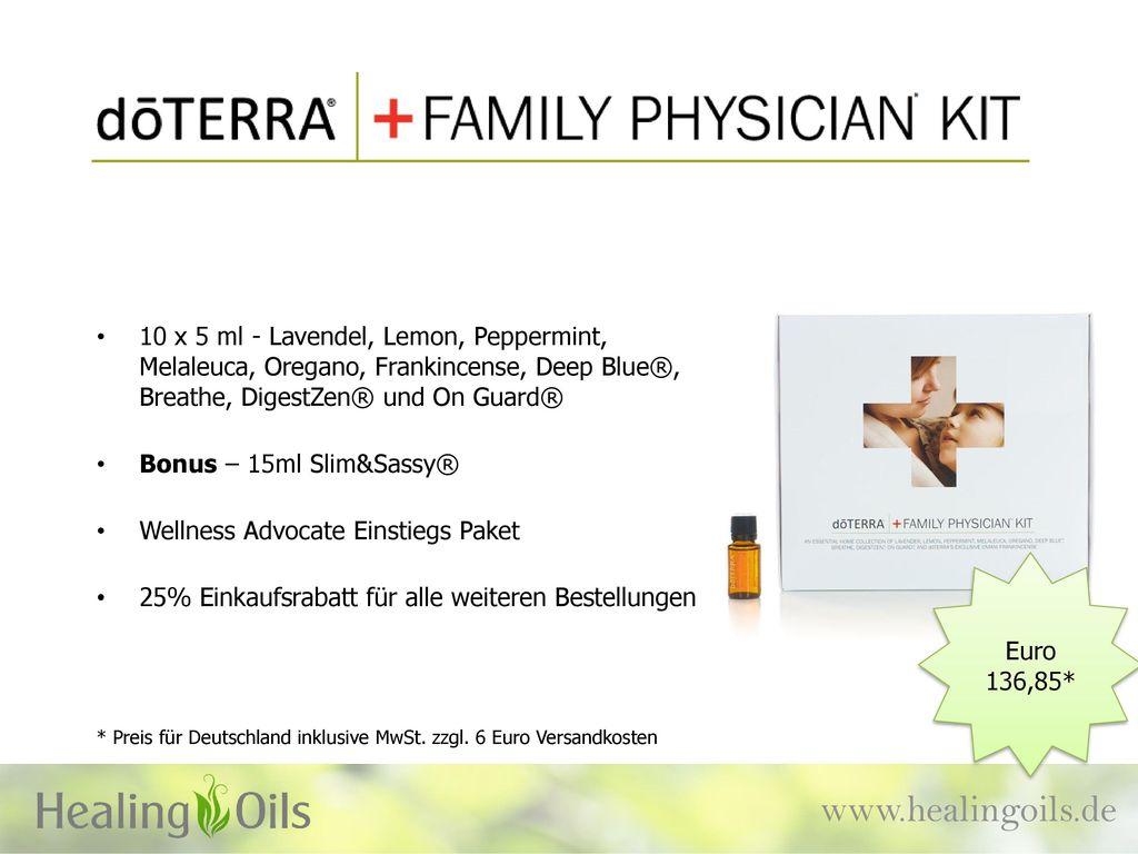 10 x 5 ml - Lavendel, Lemon, Peppermint, Melaleuca, Oregano, Frankincense, Deep Blue®, Breathe, DigestZen® und On Guard®