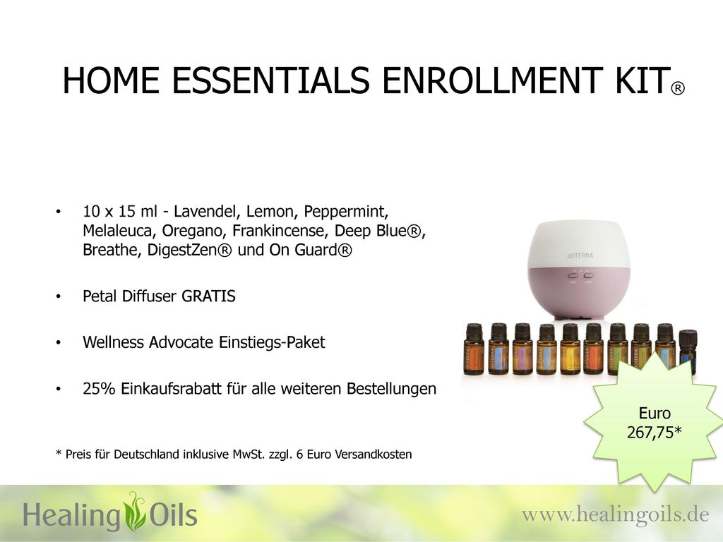 HOME ESSENTIALS ENROLLMENT KIT®