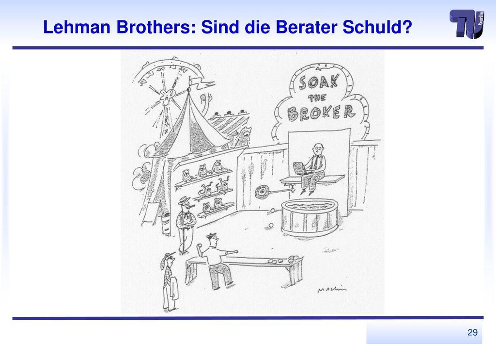 Lehman Brothers: Sind die Berater Schuld