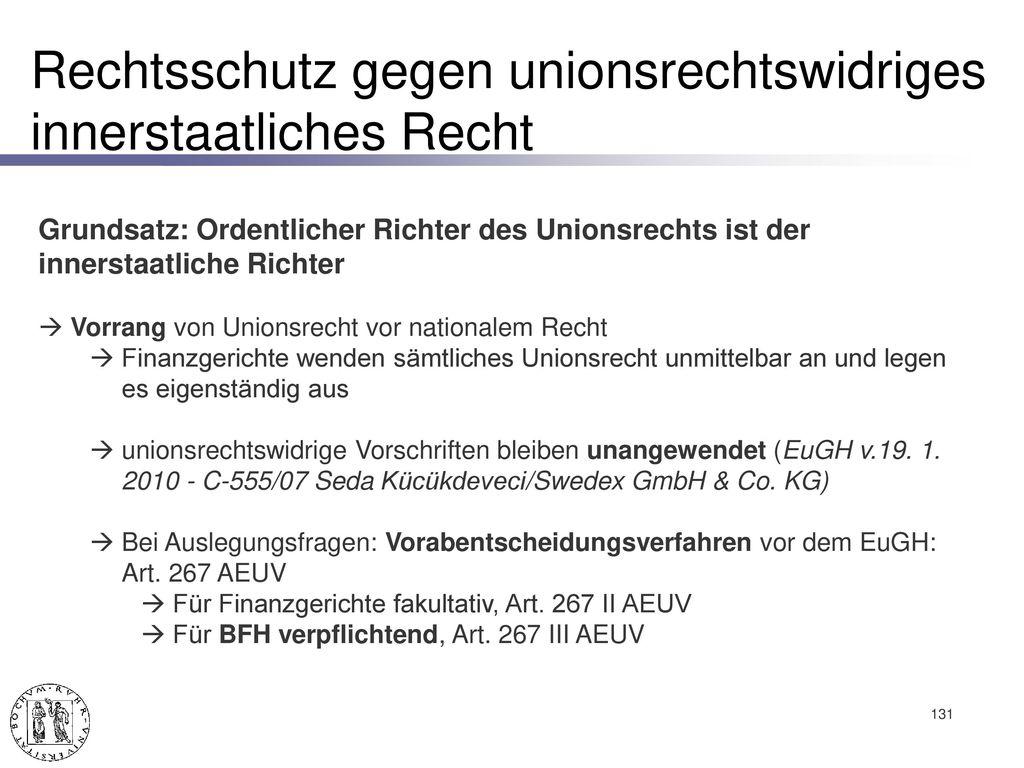 Rechtsschutz im Europäischen Steuerrecht